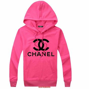 CHANEL Woman Men Hooded Top Sweater Hoodie