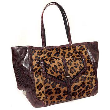 Tory Burch Leopard Pattern Large Tote Bag