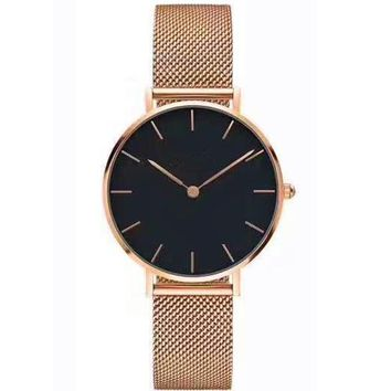 Great Deal Gift Awesome Good Price Trendy Designer's New Arrival Stylish Fashion Simple Design Stainless Steel Band Watch [11203430343]