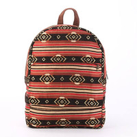 Everyday Backpack, Laptop Backpack, Vegan backpack, Boho Backpack, Red Tribal Tapestry Work Bag, Southwestern Day-pack
