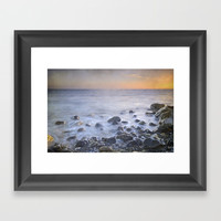Brights rocks at sunset Framed Art Print by Guido Montañés