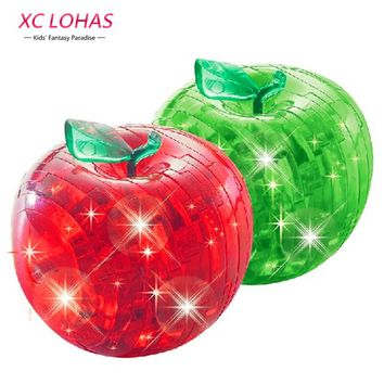 Apple 3D Crystal Puzzle With LED