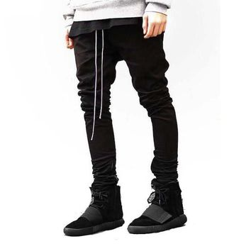 high street season slim Trousers Men Sweat loggers Pants Hip Hop Fit Sweatpants  Pants hiphop street
