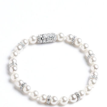 Nadri Faux Pearl and Crystal Bracelet