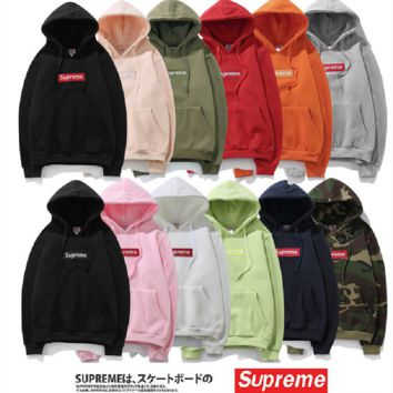 SUP multi-color large size men's plus cashmere cotton casual hoodies men and women lovers long-sleeved students