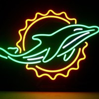 Mianmi Dolphin NFL Sports Neon Sign Real Neon Light