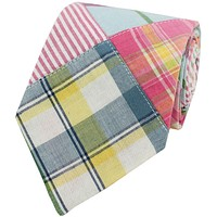Madras Plaid Tie in Sea Island by Just Madras