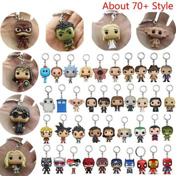 Action Figure Stranger Things Harry Potter Game Of Thrones Action Figure Toys Cute Keychain Collection Model Toys IronMan Dolls