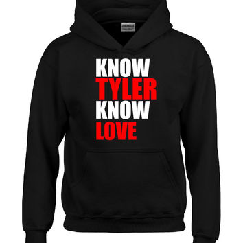 Know TYLER Know Love name design-Hoodie