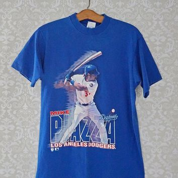 Vintage 1990s Mike Piazza + Dodgers T-Shirt