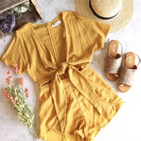 reverse - said all that - mustard romper