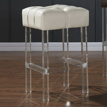 Noor Bonded-leather/Acrylic Counter Stool | Overstock.com Shopping - The Best Deals on Bar Stools