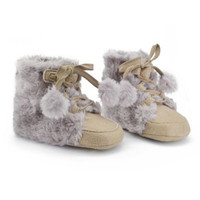 2016 Winter Toddler Kids Baby Snow Boots Faux Suede Warm Soft Crib Shoes Fleece Boots 0-18M