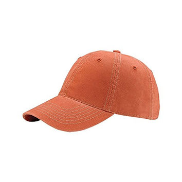 Hats & Caps Shop Low Profile 6 Panel Brushed Cotton Washed Cap - By TheTargetBuys | (COPPER)