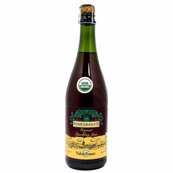 Val de France - Organic Sparkling Apple Pomegranate Juice, 25.4 oz