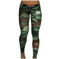 DCCKH6B Camo Clothes Fitness Leggings Women Pencil Pants Workout Leggings Camoflage Pant High Waist Long Trousers