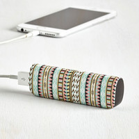 Festival Cactus What You Preach Battery Pack in Geo by ModCloth