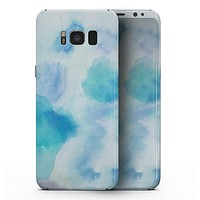 Blue 98 Absorbed Watercolor Texture - Samsung Galaxy S8 Full-Body Skin Kit
