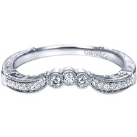 "Gabriel Amavida ""Armada"" Curved Diamond Wedding Ring"