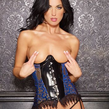 Vinyl and Brocade Gisele Corset
