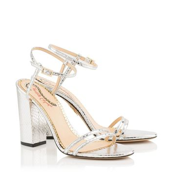 Divine in Silver - Sandals | Charlotte Olympia