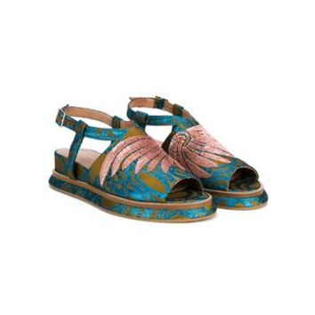DRIES VAN NOTEN | Embroidered & Embellished Wedge Sandals | Womenswear | Browns Fashion