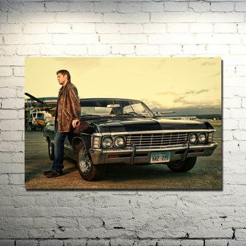 Supernatural - Devil Ghost Art Silk Fabric Poster Print 13x20 24x36 TV Series Pictures For Wall Decor Dean Sam Winchester 022