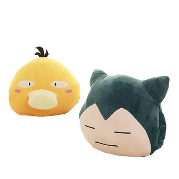 33CM Pikachu Snorlax soft Plush Hand warmer pillow Psyduck Jigglypuff pikaqiu Toy for children office Plush Anime Stuffed Doll