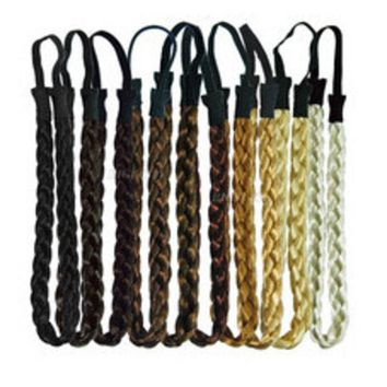 Ts 3pcs Fashion Women Girl Synthetic Hair Plaited Plait Elastic Headband Hairband Braided Band Hair Accessories Bohemian Style