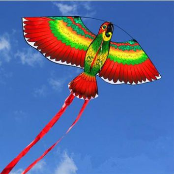 Outdoor Fun Sports  43inch Parrot Kite /Bird Kites With Handle And Line For Kids Gifts Good Flying