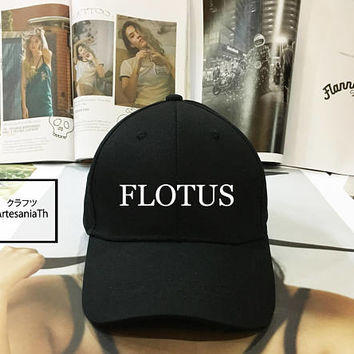 FLOTUS Hat - Ladies flotus Hat Black Pink White - Baseball Cap, Tumblr hat , Dad Hat Baseball Hat Baseball Cap, Low-Profile Baseball Cap Hat