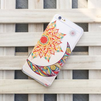 Henna The Gypsy (Sun and Moon) - Clear TPU Case Cover Phone Case