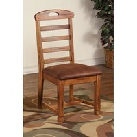 Sunny Designs 1418RO-CT Sedona Ladder-back Chair In Rustic Oak