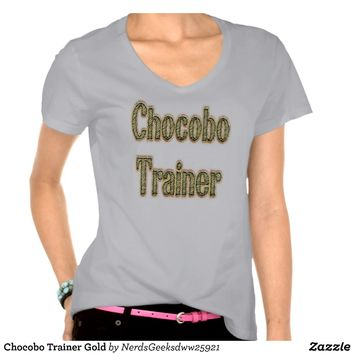Chocobo Trainer Gold Shirts from Zazzle.com