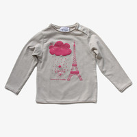 Arsene et Les Pipelettes Girls Eiffel Tower Tee - H15FT14 - FINAL SALE