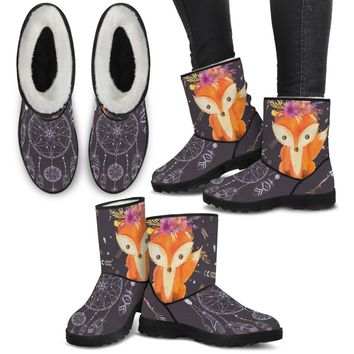Boho Fox Furry Boots