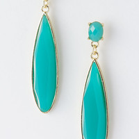 Modern Jewel Droplet Fashion Jewelry Earrings in Turquoise