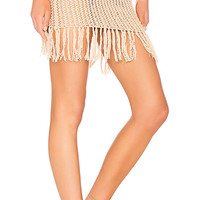 Lovers + Friends Lou Crochet Skirt in Tan | REVOLVE