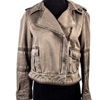 Olive Cotton Military Jacket