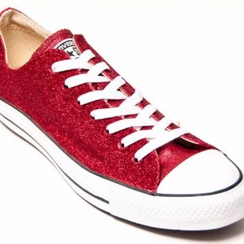 Select Your Color of Fine Glittered Canvas Name Brand Low Top Sneakers