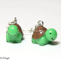 Cute Turtle Earrings - Kawaii miniature animal jewlery
