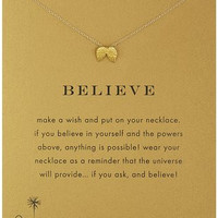 """Believe Necklace 16"""" in Gold"""