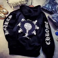 Chrome Hearts Fashion Embroidery Hoodie Top Sweater