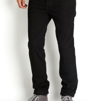 Black Twill Skinny Jeans - Mens Skinny Jeans  - Clothing