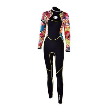 Sea Swimming Women Wetsuit 3MM neoprene Diving Wetsuit Warm Scuba Snorkeling Swim Surfing Long Sleeve Wetsuits Diving Clothing