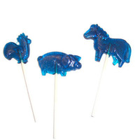 9 Farm Animals Lollipops - Chicken , Pig , Horse - Party Favors