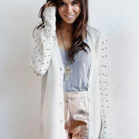 Spiked Sleeve Cardigan | Timeless Boutique