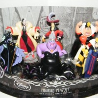 Disney Villains Exclusive Figure Set of 6 with Queen of Hearts, Maleficent, Ursula, Cruella De Vil, Captain Hook and More!