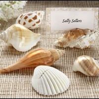 Authentic Shell Placecard Holder with Placecards - Set of 6