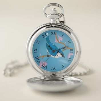 Blue Jay Pocket Watch